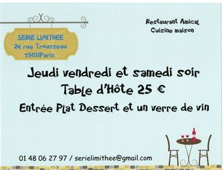 Table d hote